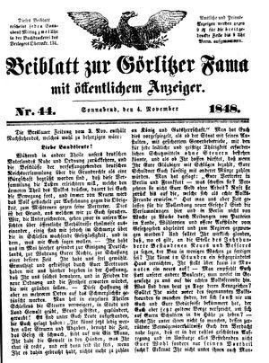 Görlitzer Fama vom 04.11.1848