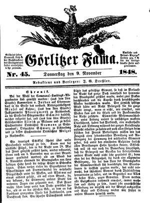Görlitzer Fama vom 09.11.1848