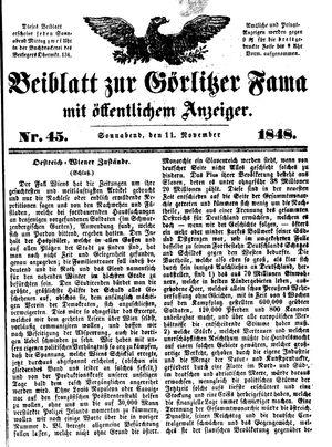 Görlitzer Fama vom 11.11.1848