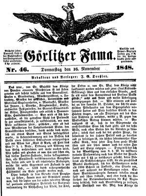 Görlitzer Fama vom 16.11.1848