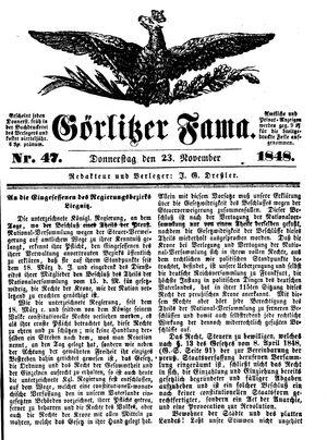 Görlitzer Fama vom 23.11.1848