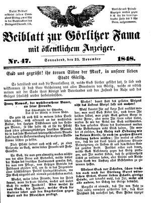 Görlitzer Fama on Nov 25, 1848