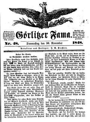Görlitzer Fama vom 30.11.1848
