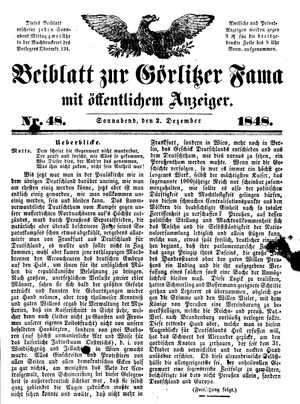 Görlitzer Fama vom 02.12.1848