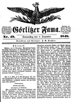 Görlitzer Fama vom 07.12.1848