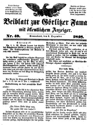 Görlitzer Fama vom 09.12.1848