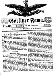 Görlitzer Fama (14.12.1848)
