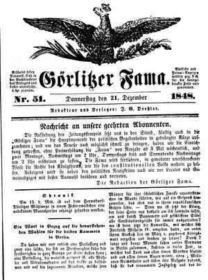 Görlitzer Fama on Dec 21, 1848