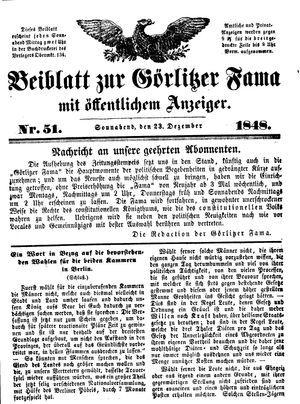 Görlitzer Fama vom 23.12.1848