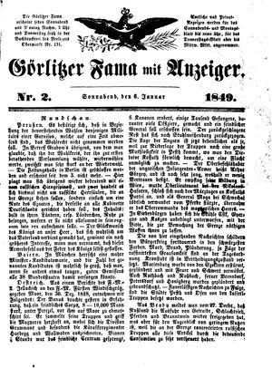 Görlitzer Fama vom 06.01.1849