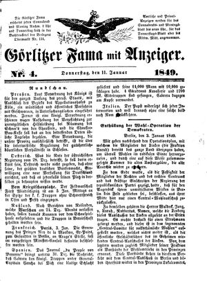 Görlitzer Fama vom 11.01.1849