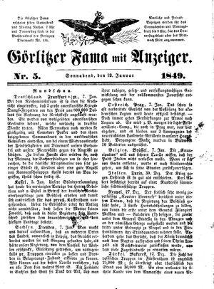 Görlitzer Fama on Jan 13, 1849