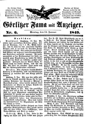 Görlitzer Fama vom 15.01.1849
