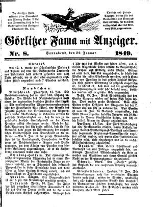 Görlitzer Fama vom 20.01.1849