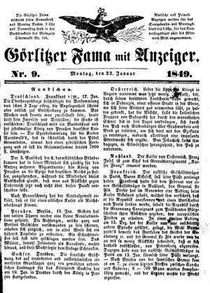 Görlitzer Fama vom 22.01.1849