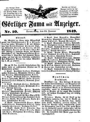 Görlitzer Fama vom 25.01.1849