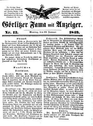 Görlitzer Fama on Jan 29, 1849