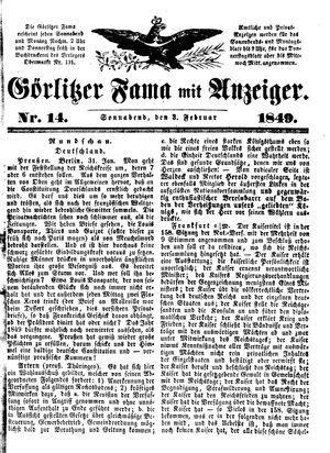Görlitzer Fama vom 03.02.1849