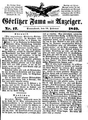 Görlitzer Fama on Feb 10, 1849