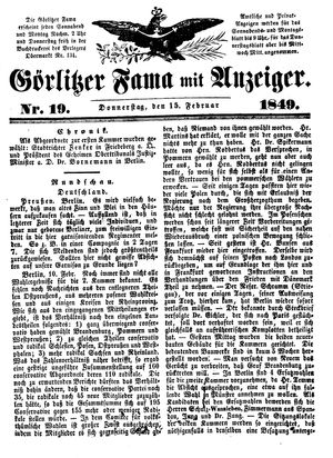 Görlitzer Fama vom 15.02.1849