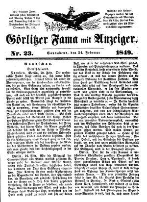 Görlitzer Fama vom 24.02.1849