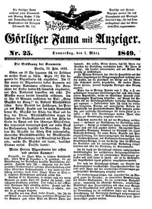 Görlitzer Fama on Mar 1, 1849
