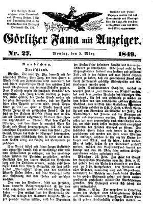 Görlitzer Fama vom 05.03.1849