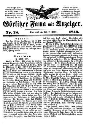 Görlitzer Fama vom 08.03.1849