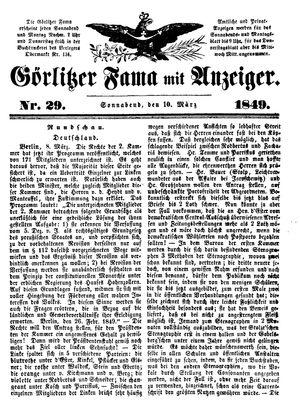 Görlitzer Fama vom 10.03.1849