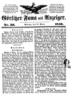 Görlitzer Fama on Mar 12, 1849