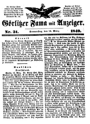 Görlitzer Fama on Mar 15, 1849