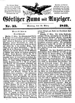 Görlitzer Fama vom 19.03.1849