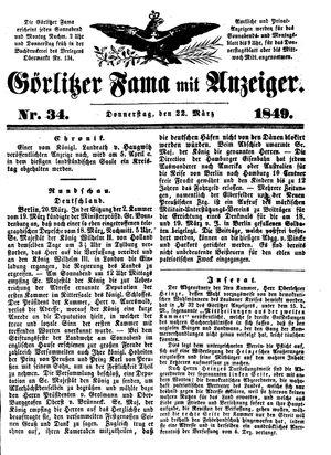 Görlitzer Fama vom 22.03.1849