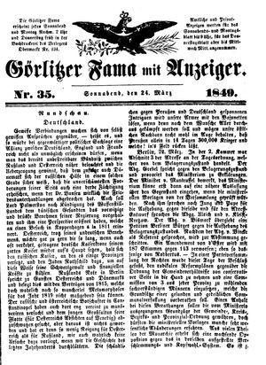 Görlitzer Fama vom 24.03.1849