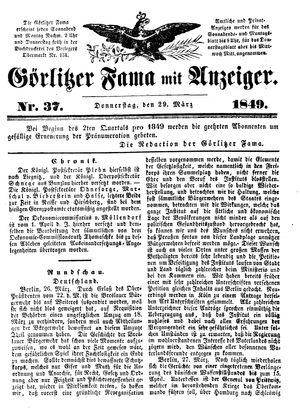 Görlitzer Fama on Mar 29, 1849