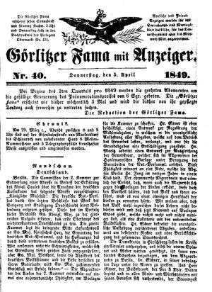 Görlitzer Fama vom 05.04.1849