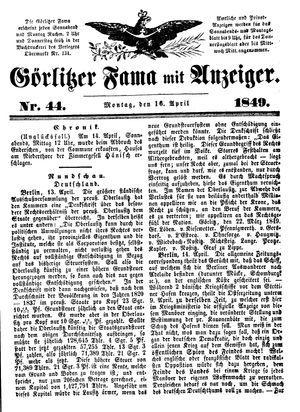 Görlitzer Fama vom 16.04.1849