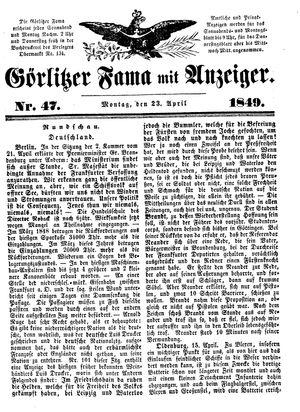 Görlitzer Fama vom 23.04.1849