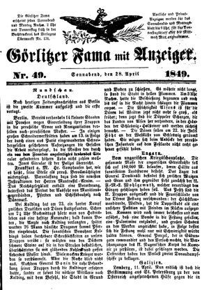 Görlitzer Fama on Apr 28, 1849