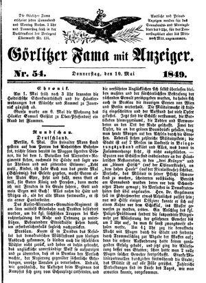Görlitzer Fama vom 10.05.1849