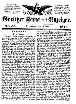 Görlitzer Fama vom 12.05.1849