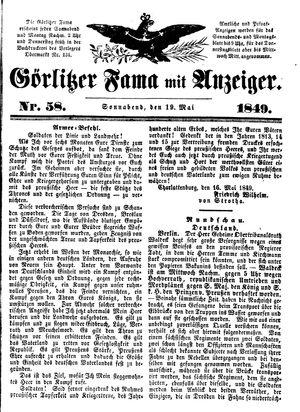 Görlitzer Fama vom 19.05.1849