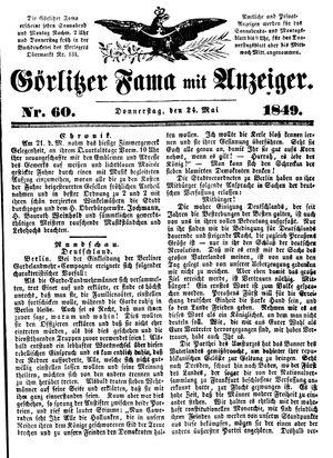 Görlitzer Fama vom 24.05.1849
