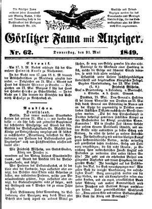 Görlitzer Fama on May 31, 1849