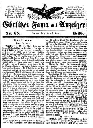 Görlitzer Fama vom 07.06.1849