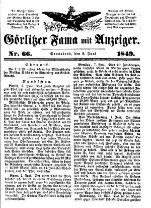 Görlitzer Fama vom 09.06.1849