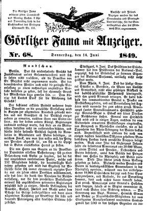 Görlitzer Fama vom 14.06.1849