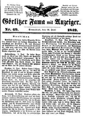 Görlitzer Fama vom 16.06.1849