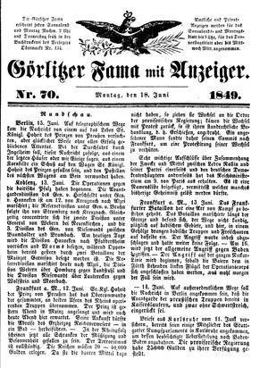 Görlitzer Fama on Jun 18, 1849