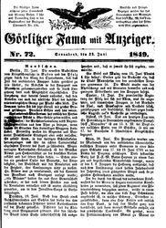 Görlitzer Fama (23.06.1849)